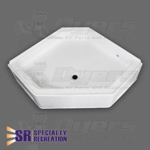 Specialty Recreation 34 X 34 White Neo Angle Front Center Drain