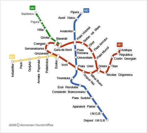 Bucharest Subway Map Harta Metroului Bucuresti Subway Map