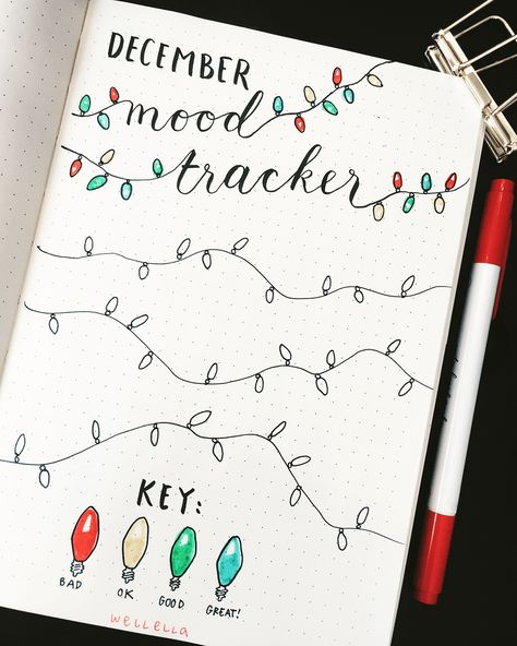 Have you got your bullet journal set up for December yet? These past few months have been so busy that I haven't really done a pretty theme in my bullet journal.... in AGES! It's been just straight-up functional, which is okay.... but I missed doodling! So I thought, for December, I'm goi... #journaling #bulletjournal #planners