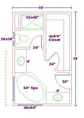 Bathroom And Closet Floor Plans Plans Free 10x16 Master Bathroom Floor Plan With Walk In Clos Master Bathroom Plans Bathroom Plans Master Bathroom Layout