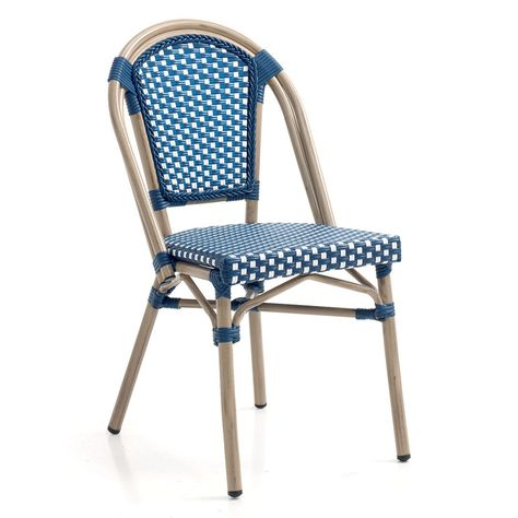 Chaise Bistrot Azur En 2020 Chaise Bistrot Chaise Et Chaise Bleu