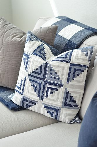 Welcome Back A Little House Update Cabin Pillows Log Cabin Quilt Pattern Log Cabin Pillows