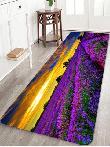Lavender Flower Pattern Soft Anti Skid Area Rug Purple Area Rugs Area Rugs Rugs On Carpet