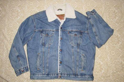 Vintage Levis #Denim #Trucker #Jacket Large #Sherpa Lining
