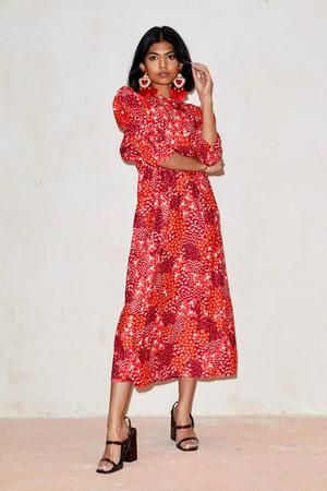 Red Lucy Floral Maxi Dress Never Fully Dressed In 2020 Maxi Dress Floral Maxi Dress Dresses
