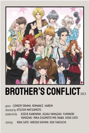 Brother's Conflict Polaroid Poster