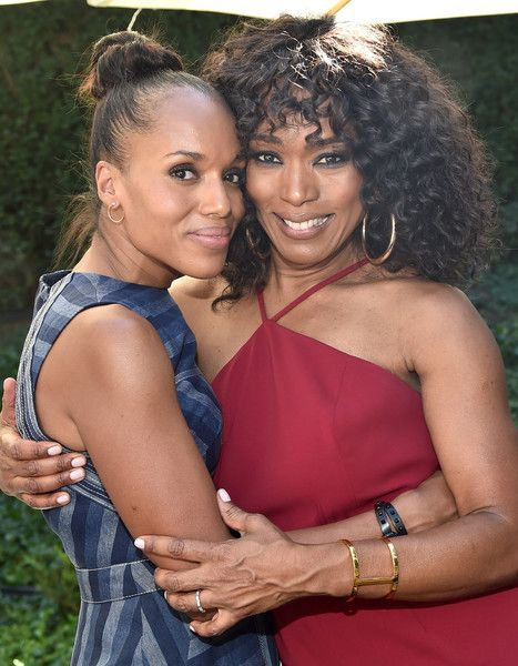 Actors Kerry Washington and Angela Bassett attend Oprah Winfrey's Gospel Brunch celebrating her new book 'Wisdom of Sundays.'