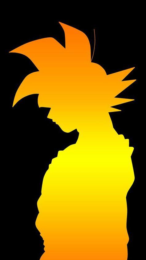 goku silhouette wallpaper