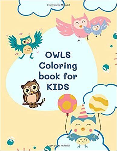 Summer Sale Under 5 Owls Coloring Book For Kids In 2020 Coloring Books Owl Coloring Pages Book Activities