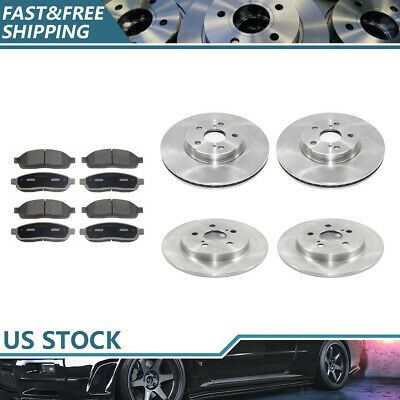 Front+Rear Brake Rotors Ceramic Pads For 2007-2014 2015 2016 2017 Jeep Wrangler