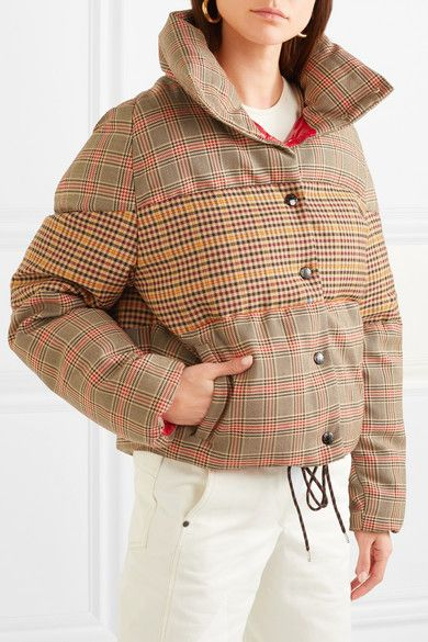 eccf383d2 Moncler - Paneled checked quilted wool-blend down jacket | clothing ...