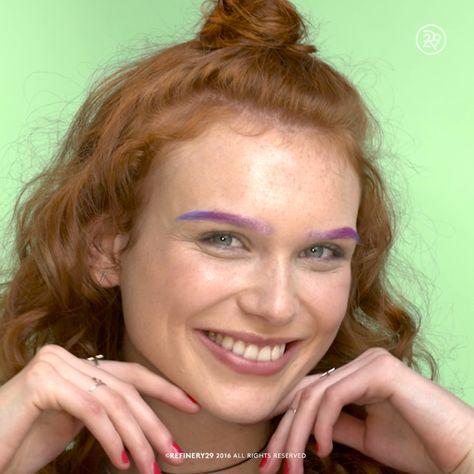 An ombré purple brow for a pop of color
