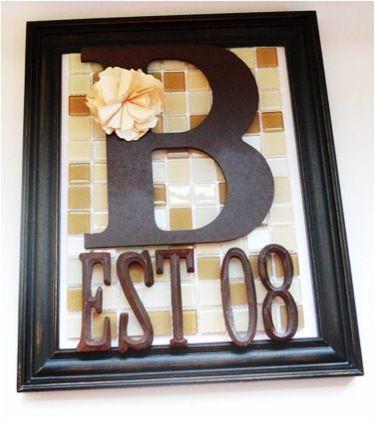 Tiled family sign