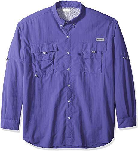 Columbia Mens Bahama II Big /& Tall Long Sleeve Sun Shirt Quick Drying