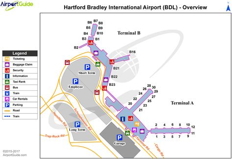 Tampa Tampa International TPA Airport Terminal Map Overview