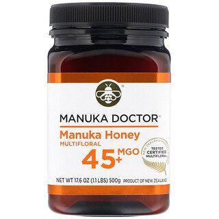 Manuka Doctor Manuka Honey Multifloral Mgo 45 1 1 Lbs 500 G In 2020 Manuka Honey Honey Manuka Doctor Honey
