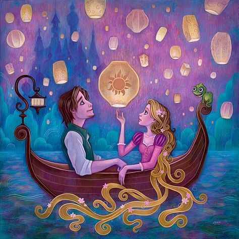 """""""Message From Home"""" inspired by the Disney film Tangled to be revealed at:   Disney WonderGround Gallery, Artist Showcase and signing with Jeremiah Ketner March 23, from 3pm to 5 p.m. WonderGround Gallery in the Downtown Disney® District, CA."""