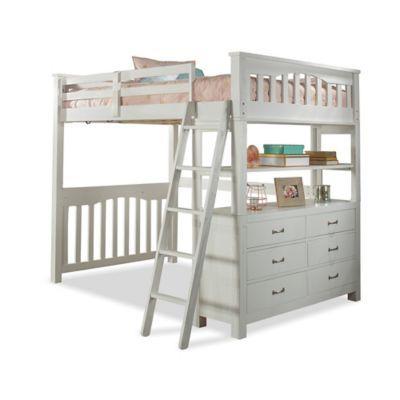 Hillsdale Highlands Full Loft Bed In White Loft Bed Full Bed Loft Safe Bunk Beds
