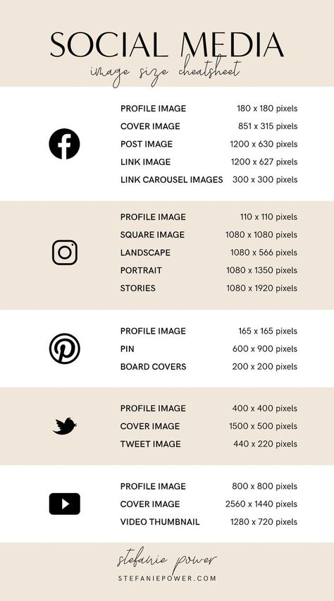 2019 Social Media Image Size Guide