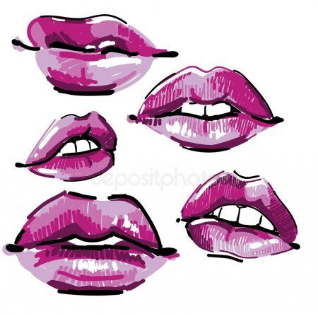 Set Lip Sketches Female Lips Lipstick Drawing Markers Pop Art Stock Vec Spon Female Lips Lipstick Set Ad Lips Sketch Female Lips Pop Art Lips