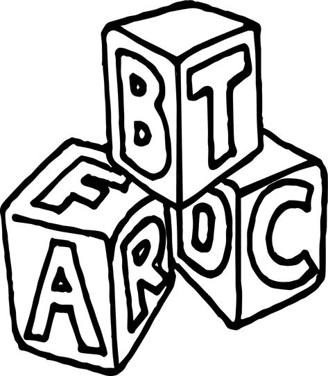 Cool A B C Box Cube Coloring Page Coloring Pages Coloring Pages