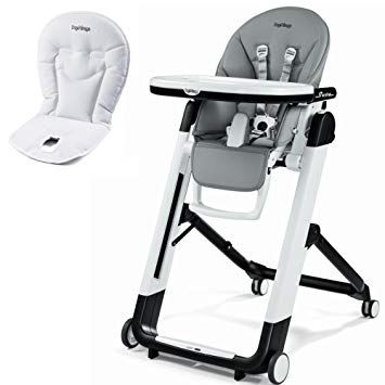 Peg Perego Siesta High Chair With Peg Perego Booster Cushion Ice Review Baby High Chair Toddler High Chair High Chair