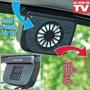 Solar Sun Powered Power Window Fan Ventilator Auto Cool Air Vent