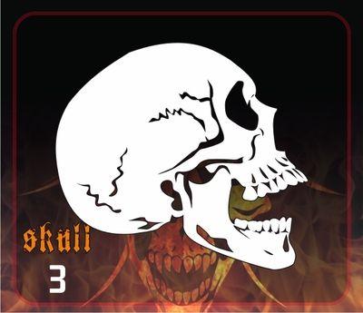 AEROSPACE Airbrush Stencil - Skull 3 - 'Profile'