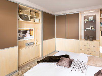 Schlafzimmer mit Eckschrank PMAX Massmöbel - Tischlerqualität - schlafzimmer mit bettüberbau