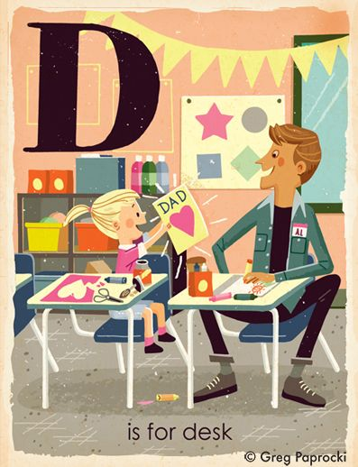 D Is For Desk From Greg Paprocki S Abc Board Book S Is For School With Images Story Books Illustrations Childrens Books Illustrations Children Illustration