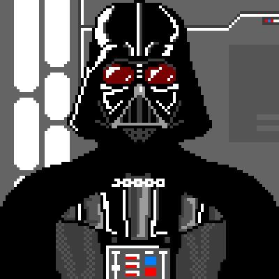 Pixel Art Darth Vader Star Wars Anakin Skywalker I Am Your