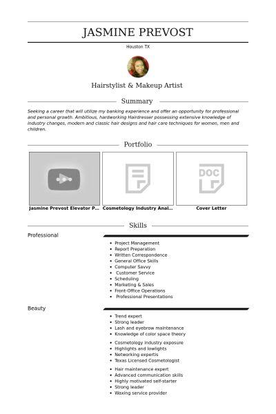 freelance hairstylist \ makeup artist Resume example resume - resume for hairstylist