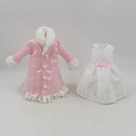 "Takara 12/"" Blythe Doll outfits-Pink Dress With Lace"