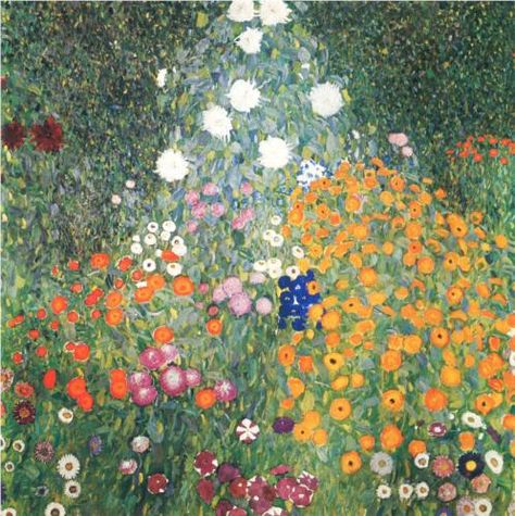 Gustav Klimt Flower Garden 1907 Oil On Canvas Fondation Rau