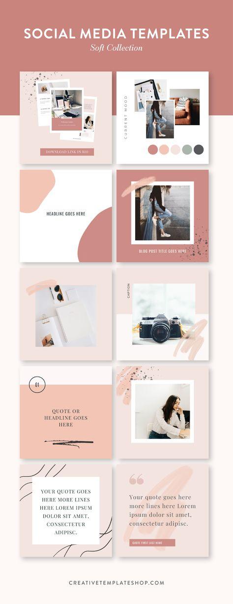 Social Media Templates – Soft Collection | The Shop