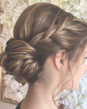 Neuefrisureen Club Braided Hairstyles Updo Bridesmaid Updo Medium Length Hair Styles