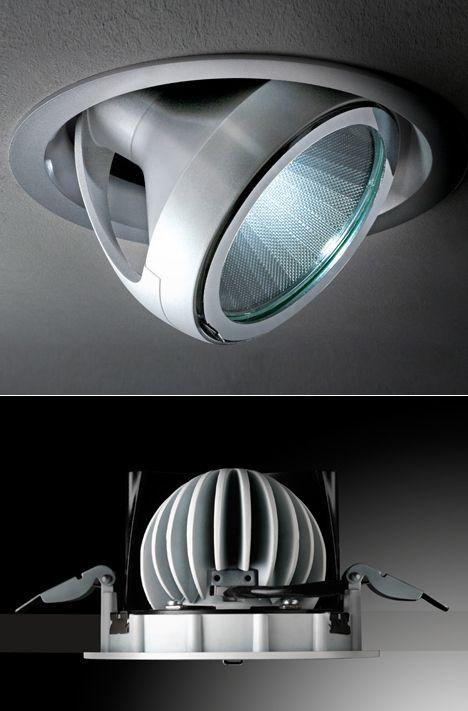 Massimo iosa ghinis pixel pro led recessed ceiling light lighting