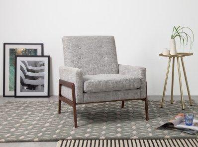 Cecil Sessel Grau Und Weiss Lounge Sessel Sessel Stuhl Design