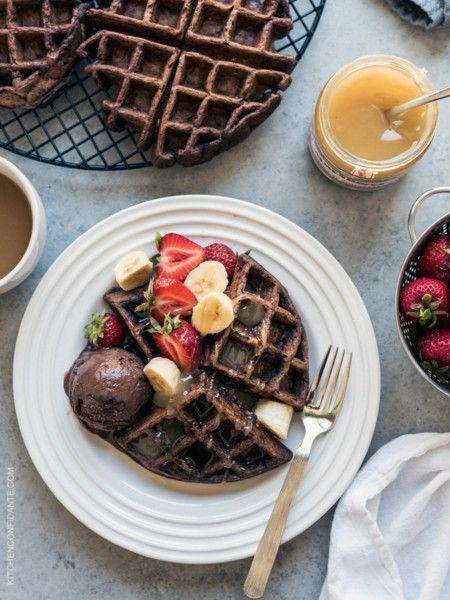 Chocolate Zucchini Belgian Waffles Www