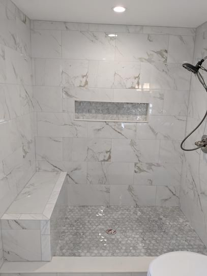 Msi 12 In X 24 In Carrara Polished Porcelain Floor And Wall Tile 16 Sq Ft Case Nhdcarr1224p The Home Depot Bathroom Remodel Shower Master Bathroom Shower Shower Remodel