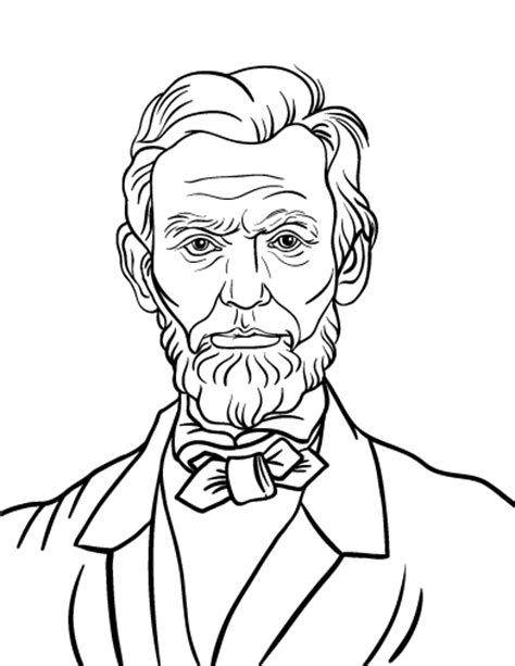 Abraham Lincoln Coloring Pages Abraham Lincoln For Kids Abraham