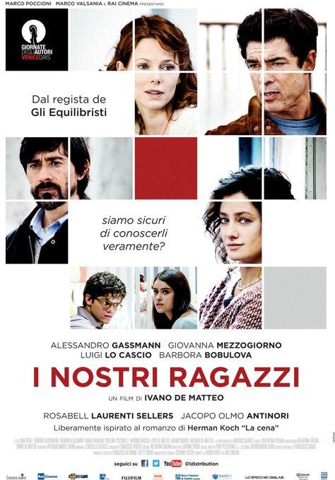 """I nostri ragazzi (2014) Italiaanse verfilming naar  het boek """"Het diner"""" van Herman Koch http://www.artifilm.nl/Html/inostriragazzi.asp"""