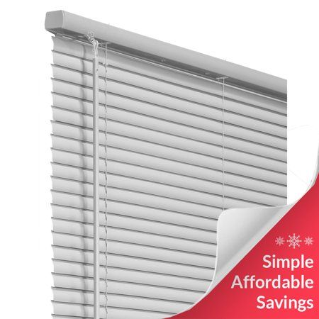 Chicology Cordless 1 Inch Vinyl Mini Blinds Size 48 Inch X 64 Inch Gray Vinyl Mini Blinds Mini Blinds Vinyl Blinds