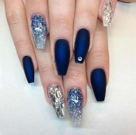 Best Nails Acrylic Blue Christmas 16+ Ideas nails