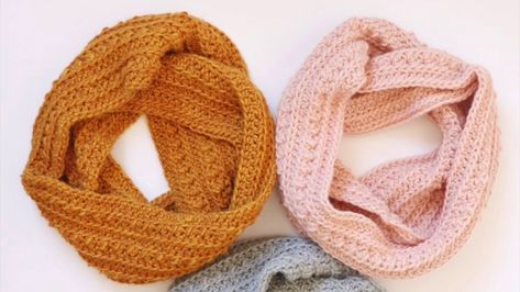 Half Double Crochet Front Two Loop Cluster Stitch