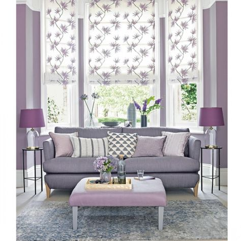 Colour School How To Decorate With Dusty Lavender Mauve Living Room Purple Living Room Lavender Living Rooms
