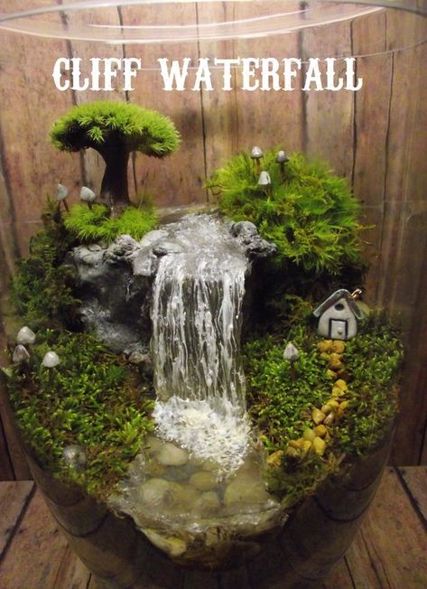 Add a Miniature Waterfall Pond or River to your Fairy Garden | Etsy