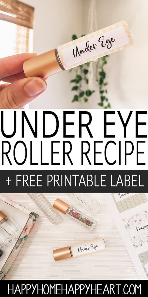 , DIY Under Eye Roller Blend + Free Printable Roller Label , This roller blend is filled with the best essential oil for eye bags and the best oils for under eye wrinkles. It's super easy to make and natura. Essential Oils For Asthma, Frankincense Essential Oil, Young Living Essential Oils, Essential Oil Blends, Young Living Oils For Allergies, Edens Garden Essential Oils, What Are Essential Oils, Homemade Essential Oils, Roller Bottle Recipes