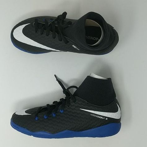 size 40 37482 7f2f7 Nike JR HypervenomX Phelon 3 DF Dynamic Fit IC Black Blue 917774-002 Y –  LoneSole