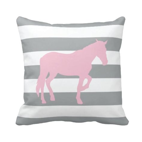 bedroom horse room decor throw pillow